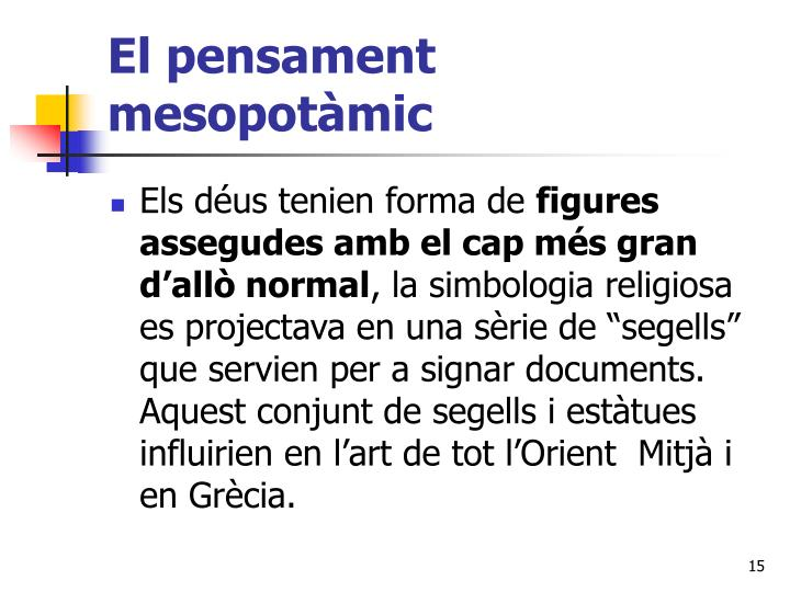 El pensament mesopotàmic