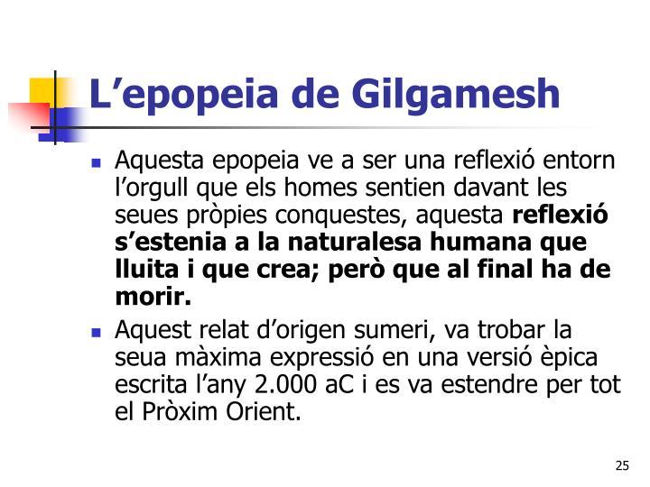 L'epopeia de Gilgamesh