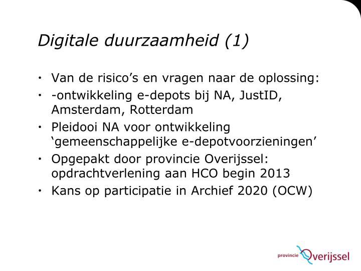 Digitale duurzaamheid (1)