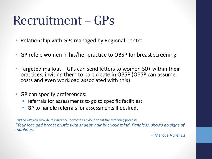 Recruitment – GPs