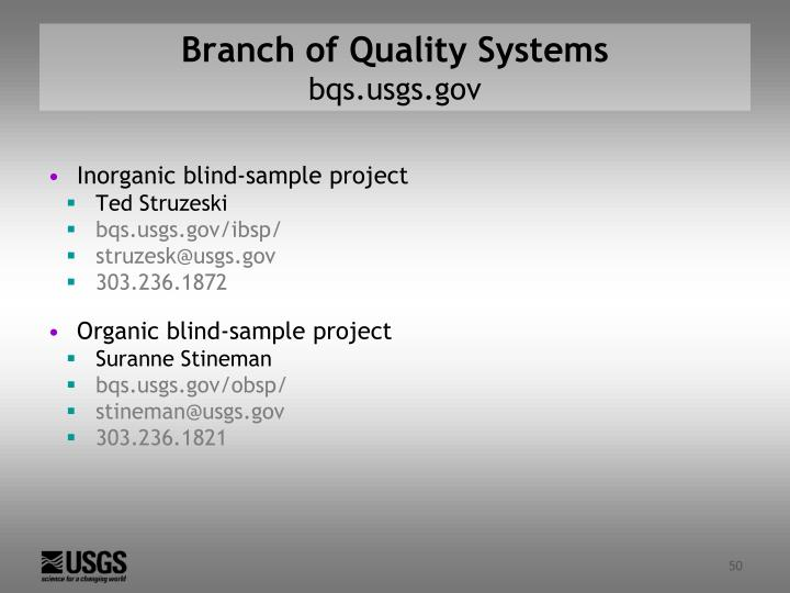Branch of Quality Systems