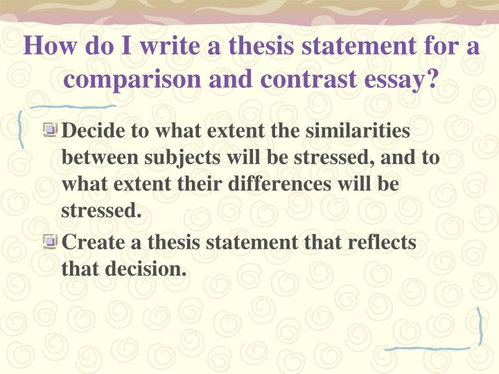 How to write a compare and contrast essay ppt