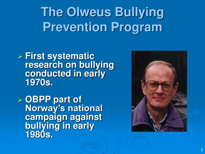 bully prevention program Bully prevention programs for elementary schools i school-wide bully prevention programs designed for use in elementary schools melissa pannell.