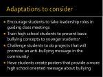 adaptations to consider1