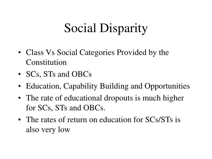 Social Disparity