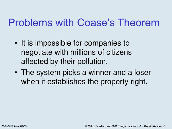 Problems with Coase's Theorem