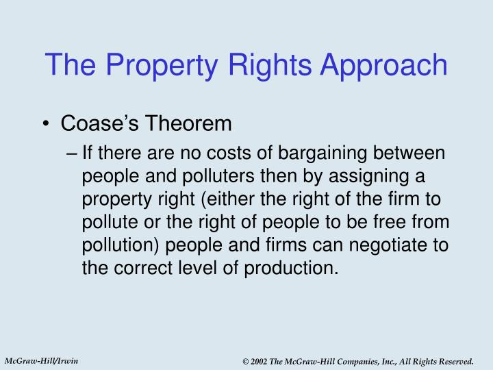 The Property Rights Approach