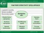 faktory efektivity spolupr ce