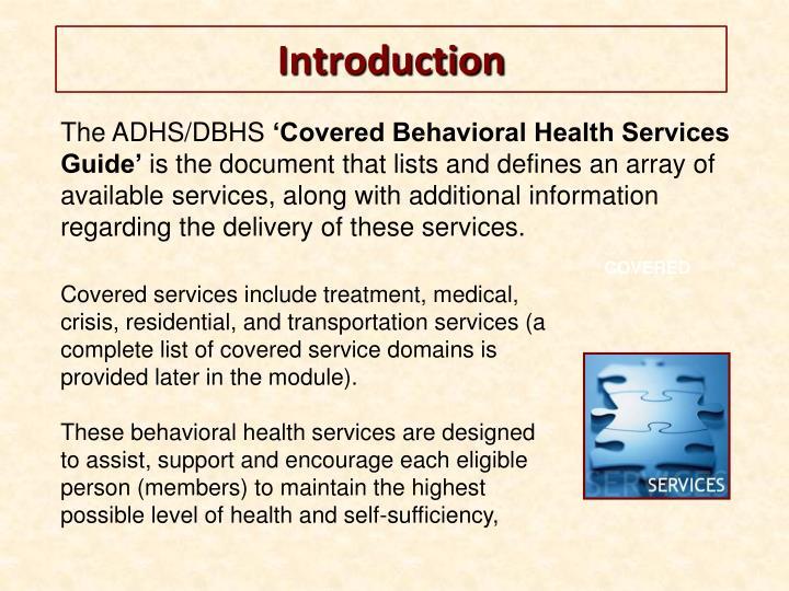 The ADHS/DBHS