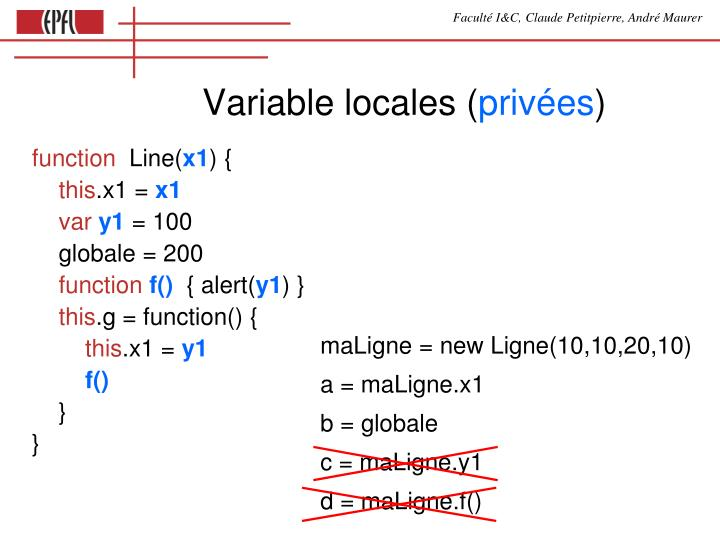 Variable locales (