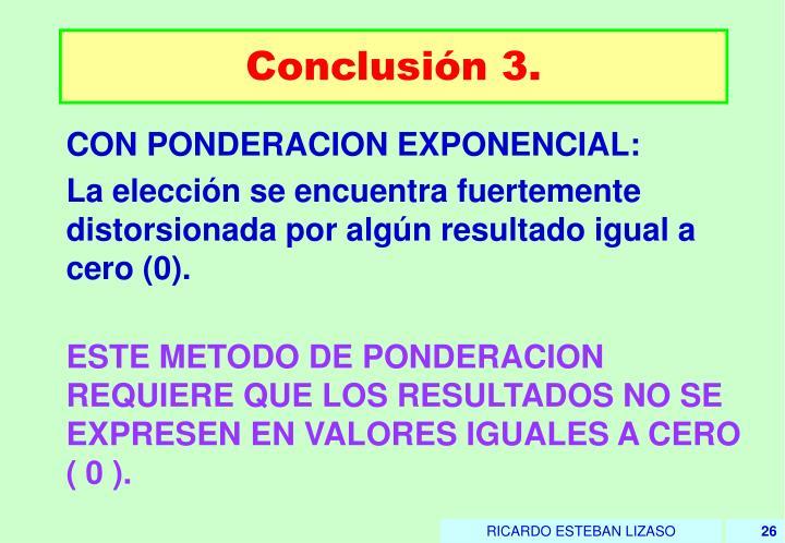 Conclusión 3.