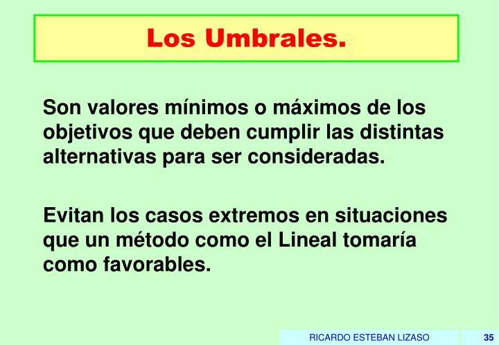 Los Umbrales.