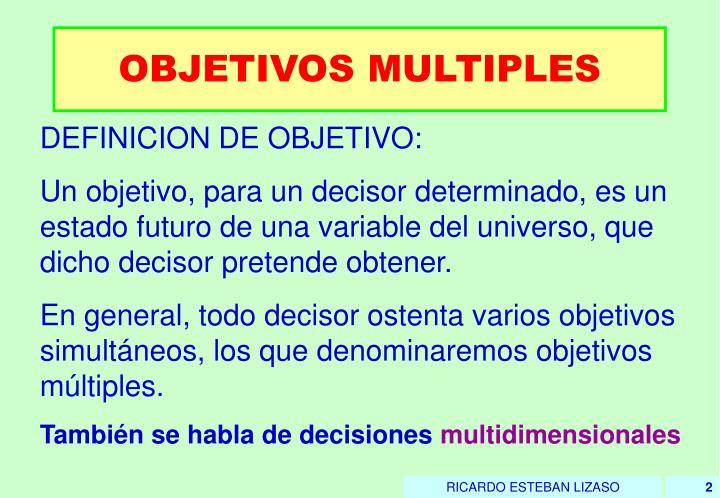 Objetivos multiples1