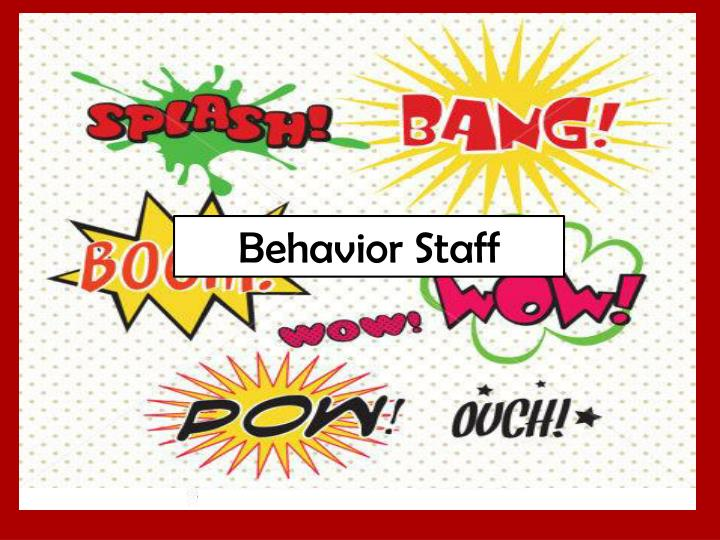 Behavior Staff