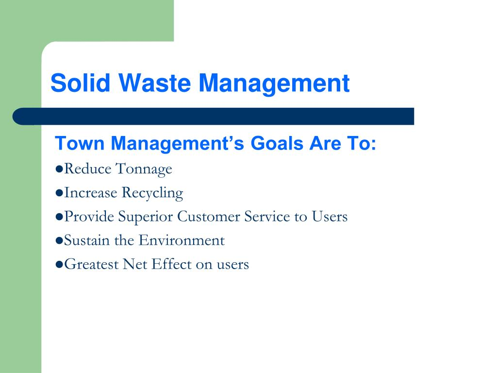 PPT - Town of Plymouth Solid Waste Management PowerPoint