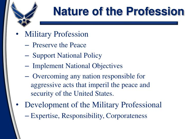 an analysis of the importance of professionalism in the military An analysis of professional military ethics:  1 the findings reveal a strong feeling of the importance of professionalmilitary ethics study data show a lack of.