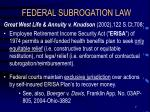 federal subrogation law