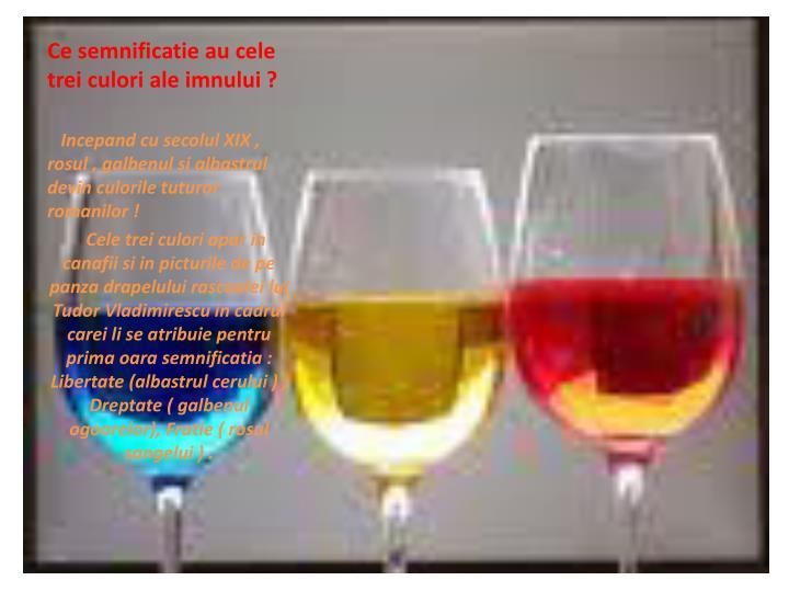 Ce semnificatie au cele trei culori ale imnului