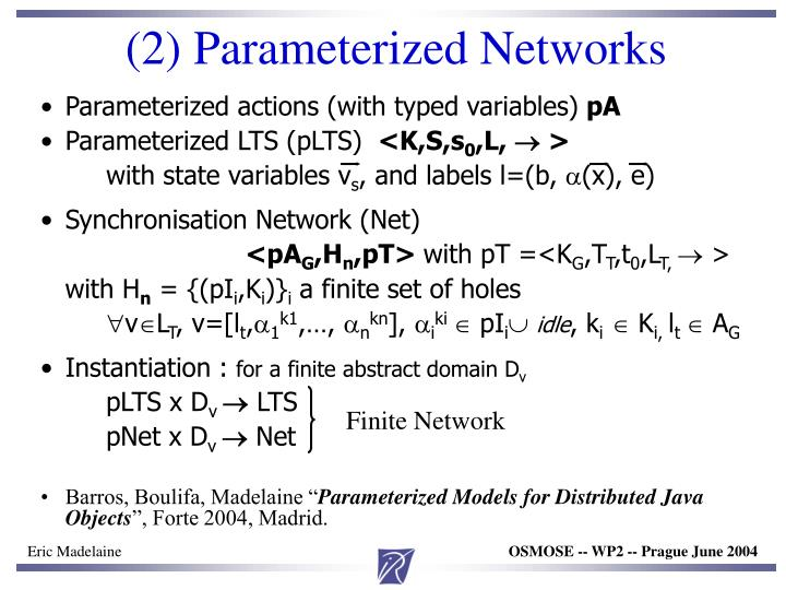 (2) Parameterized Networks
