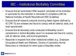ibc institutional biosafety committee