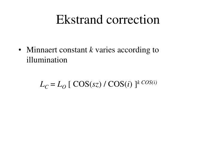 Ekstrand correction