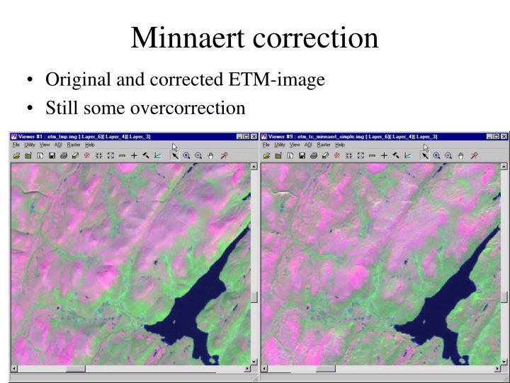 Minnaert correction