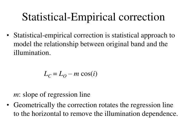 Statistical-Empirical correction