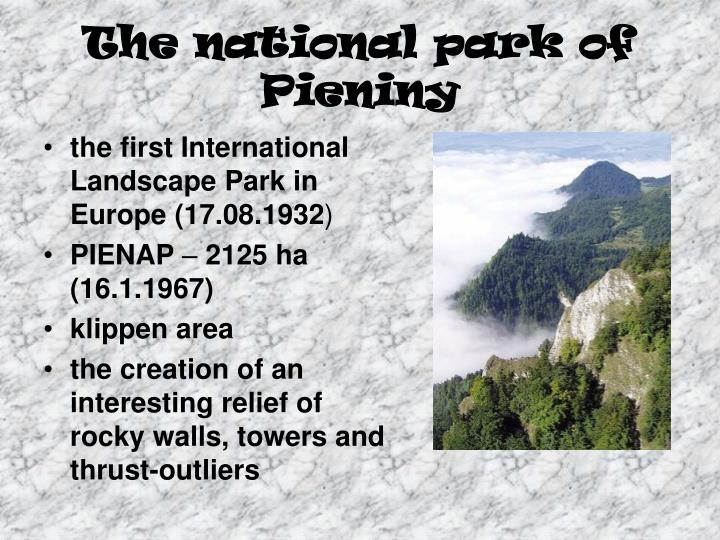 The national park of pieniny