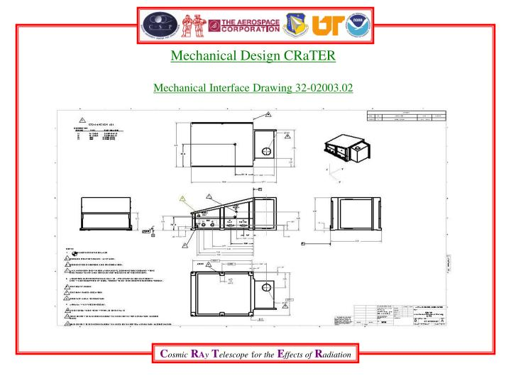Mechanical design crater mechanical interface drawing 32 02003 02