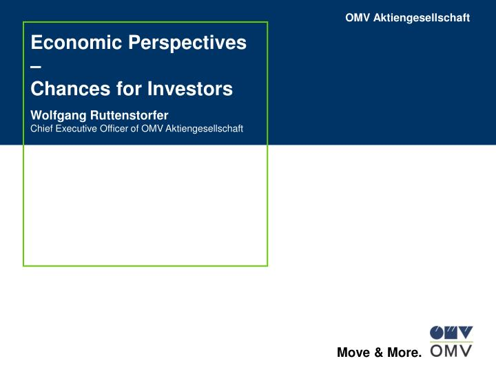 Economic perspectives chances for investors