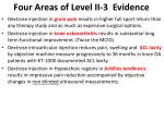 four areas of level ii 3 evidence