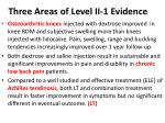three areas of level ii 1 evidence