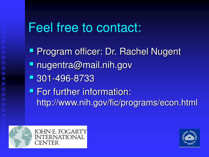 Feel free to contact: