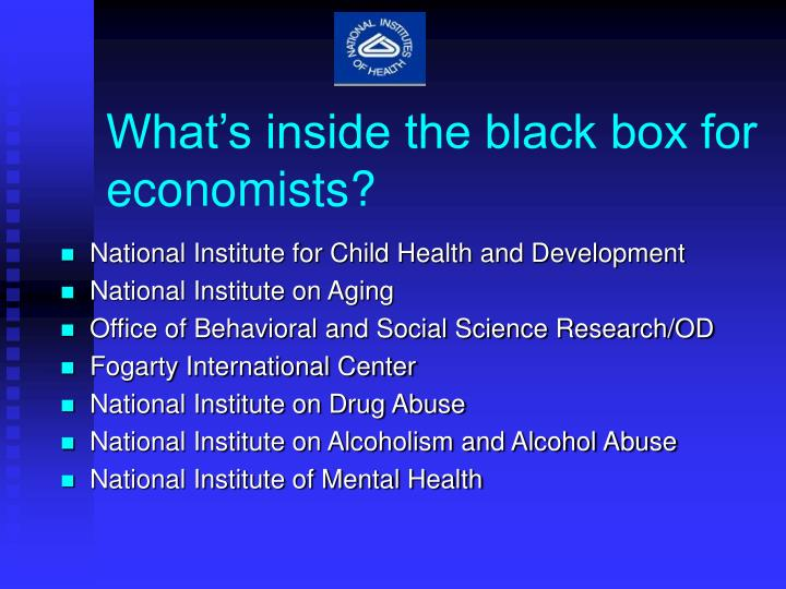 What's inside the black box for economists?