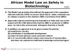 african model law on safety in biotechnology1