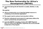 the new partnership for africa s development nepad