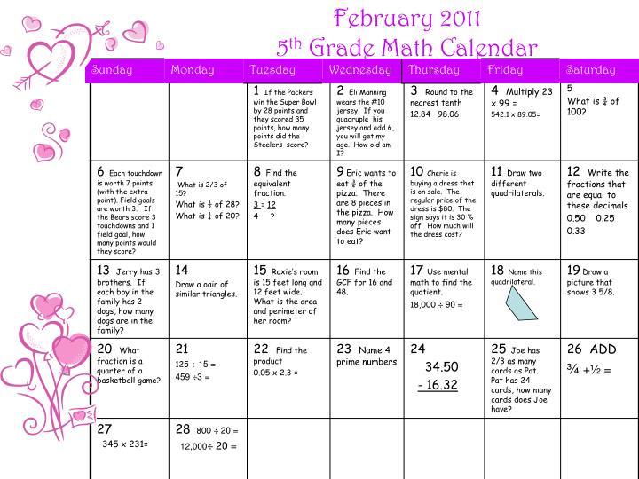 Kindergarten Calendar Powerpoint : Ppt february kindergarten math calendar powerpoint