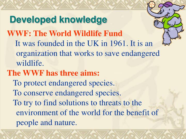 Developed knowledge