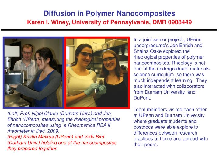 Diffusion in Polymer Nanocomposites