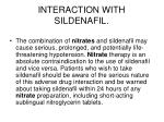 interaction with sildenafil