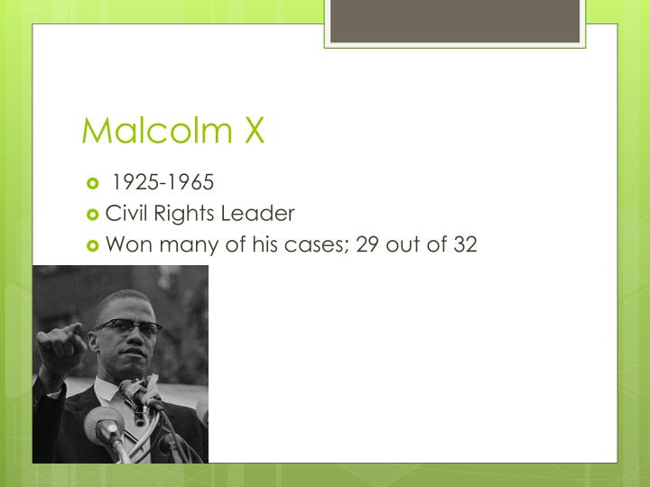 a biography of malcolm x a civil rights leader Garvey's fiercely nationalist ideas influenced many african americans, among them earl little, malcolm x's father, a preacher who spread garvey's ideas in his small michigan community during the civil rights movement of the 1960s, malcolm x gained national and international prominence.