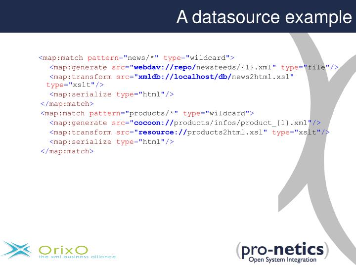 A datasource example