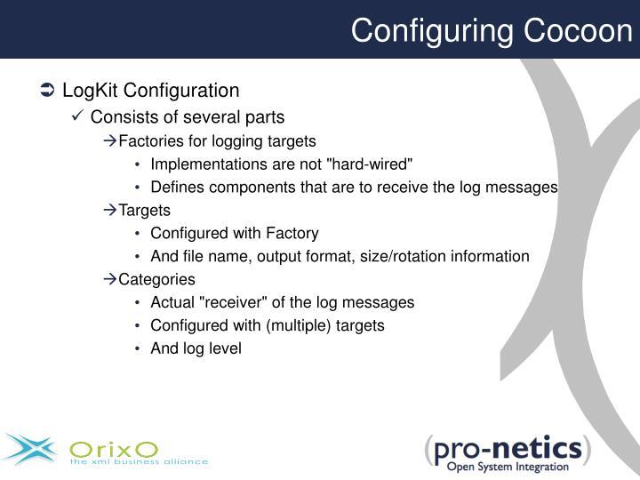 Configuring Cocoon