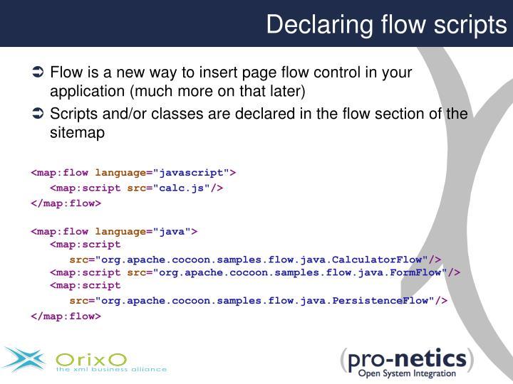Declaring flow scripts