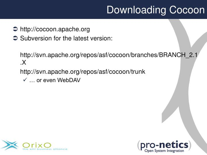 Downloading Cocoon
