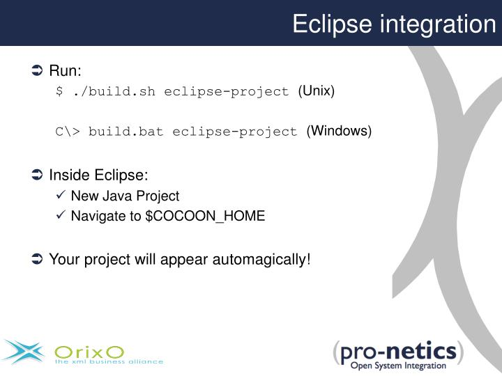 Eclipse integration
