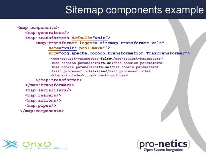 Sitemap components example