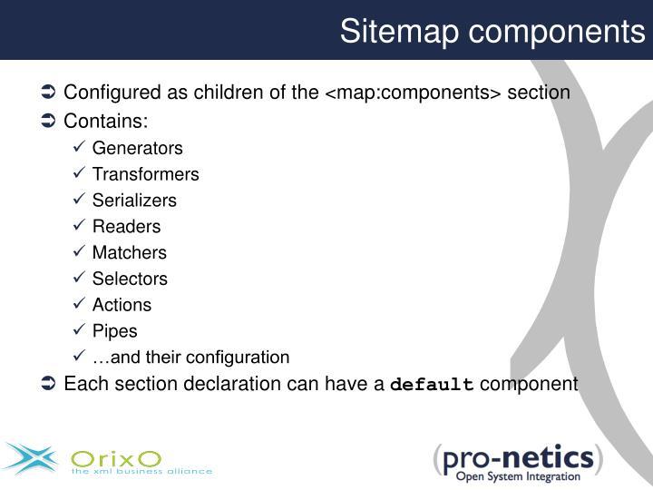 Sitemap components