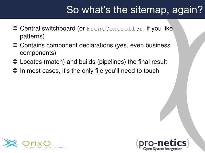 So what's the sitemap, again?