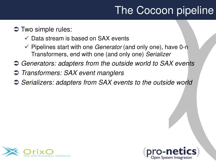 The Cocoon pipeline